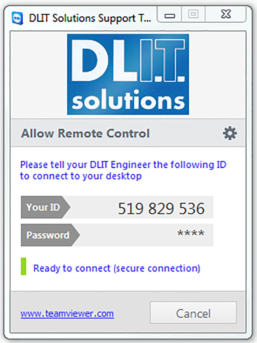 Step 4 of DLIT remote access IT support
